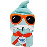 Towel Treat Animal Theme Cotton Hooded Towel for baby and Toddlers- Large 30'' x 50'' (Shark)