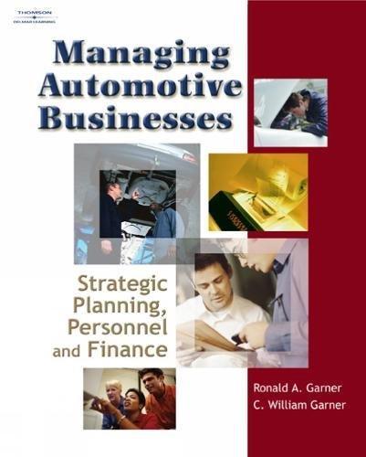 Managing Automotive Businesses: Strategic Planning, Personnel and Finances