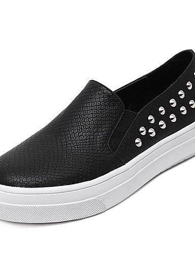 De Bajo Mujer Negro Cn35 5 White Zapatos Eu39 Semicuero Punta Uk6 White Eu36 Redonda Mocasines Plataforma Blanco us5 5 Casual Uk3 Cn39 Tacón Gyht us8 Zq qt7X1Ew6