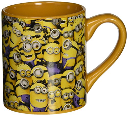 Silver Buffalo DM0132 Despicable Me Cluttered Minions Ceramic Mug, 14-Ounces]()