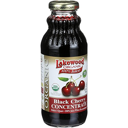 Lakewood Organic 100 Percent Fruit Juice Concentrate - Black Cherry - 12.5 oz - 95%+ Organic - Gluten (Cent Cherry)