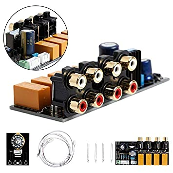 Accessories & Parts Audio Switch Input Selection Board Rca 4 Way Audio Signal Relay Selector Switching Board Lotus Seat For Amplifier Chassis Grade Products According To Quality