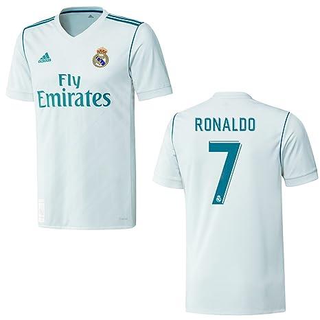 Camiseta original del Real Madrid para hombres de Adidas; temporada 2017/2018, con