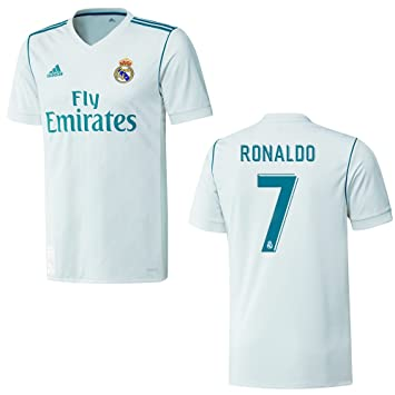 Camiseta original del Real Madrid para hombres de Adidas; temporada 2017/2018, con nombre estampado Ronaldo 7, extra-large: Amazon.es: Deportes y aire libre