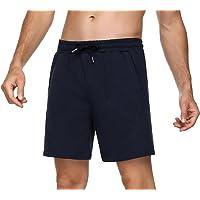 Sykooria Pantalon Corto Hombre Deporte, 100% Algodón Shorts Deportivos Hombre con 4 Bolsillos, Ligero Transpirable…