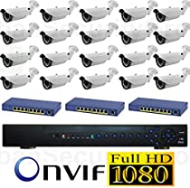 USG 20 Cameras 2015 Model 1080P HD IP CCTV Kit: 1x 24 Channel NVR + 20x 1080P 2.8-12mm PoE IP Bullet Cameras + 3x 8 Port PoE Switch + 1x 3TB HDD *** High Definition CCTV Video Surveillance