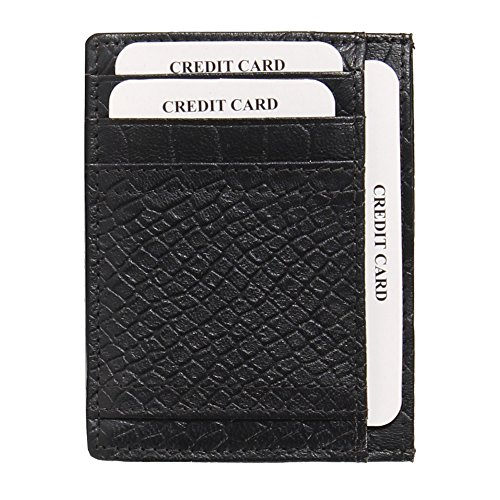 Amazon Exclusive Genuine Leather Minimalist Slim Multi Credit Card & Note Holder Front Pocket Wallet - Cyber Sale Gucci Monday