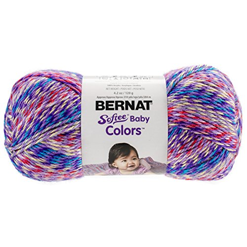 Bernat Softee Baby Colors Yarn-3 Light Gauge 100% Acrylic - 4.25 oz - Purple Rainbow - ()