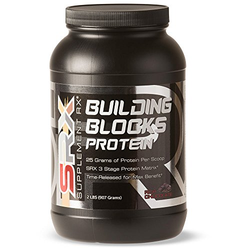 Lean Mass Complex Chocolate (Supplement Rx - Building Blocks Protein Powder, Whey Protein-Egg White Complex, Rich Chocolate, 2lbs)