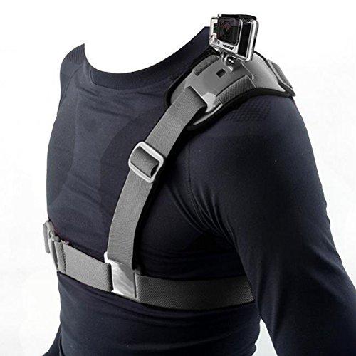 HOZER Rapid Shooting Quick Release Sling Dual-shoulder Camera Neck Strap for GoPro Hero 3 2 1 (Black)