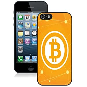 NEW Fashion Custom Designed Cover Case For iPhone 5S Bitcoin Black Phone Case