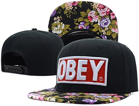 Obey Snapback Cap Gorra black Floral Flower Hat Tisa Yolo Swagg ...