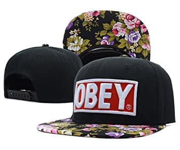 Obey Snapback Cap Hat black Floral Flower Galaxy Hat Tisa Yolo Swagg Ymcmb  Ovoxo  Amazon.co.uk  Sports   Outdoors e6690dc5d77e