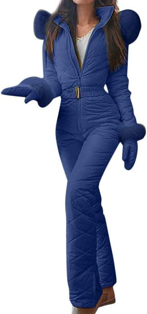 Tuta da Neve Calda Invernale da Donna Pantaloni Sportivi allaperto Tuta da Sci Tuta da Pioggia per Sport da Sci Tuta da Sci da Donna