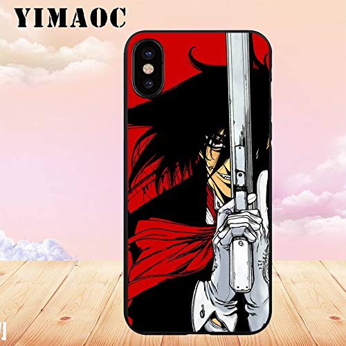 1 piece YIMAOC Alucard Hellsing Anime Soft TPU Black Silicone Case for iPhone X or 10 8 7 6 6S Plus 5 5S SE Xr Xs Max