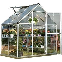 Palram Hybrid Greenhouse - 6' x 4' - Silver