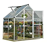 Palram Nature Series Hybrid Hobby Greenhouse – 6′ x 4′ x 7′, Silver Review