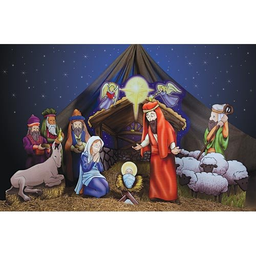 Christmas Nativity Scene Party Photo Prop Decoration Standee Standup -
