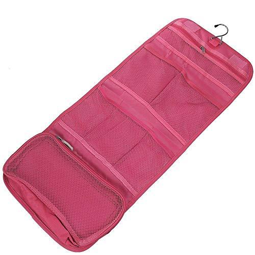 MOPOLIS Multi-function Portable Women Travel Toiletry Hanging Makeup Folding Organizer | Color - Rose