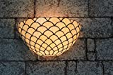 Gweat 12-inch Vintage Pastoral Stained Glass Tiffany Wall Lamp Hallway Wall Sconce Lamp Fixture