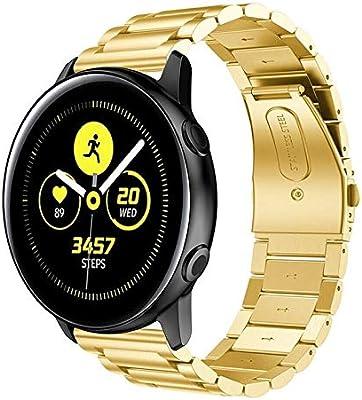 XIHAMA Correa 18mm /20mm /22mm para Smartwatch, Bracelet de Acero ...