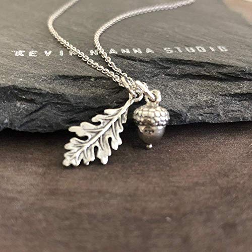 Sterling Silver Acorn Charm Necklace product image