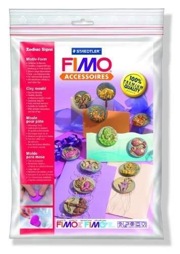 - STAEDTLER FIMO CLAY WAX SOAP FOOD ICE PUSH MOULD ZODIAC SIGNS by Idena