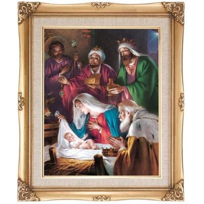 Christmas Scene Framed Art by Discount Catholic Store
