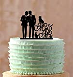 Mr And Mr Weddign Cake Topper With A Dog Or Cat Gay For Wedding Same Sex Wedding Silhouette Couple Wedding Cake Toppers