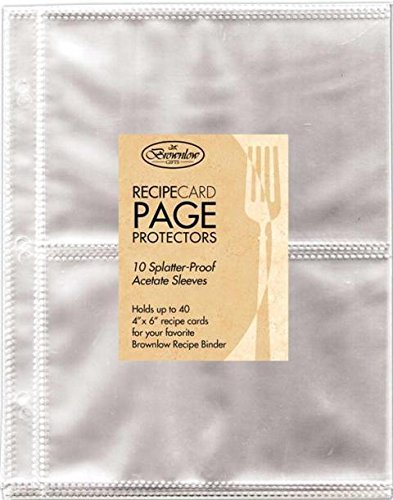 Amazon com : Brownlow 33796 Recipe Binder Acrylic Refill Sheets