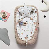 Baby Lounger, Eip.t Baby Nest Portable Super Soft Organic Cotton and Breathable Newborn Lounger - Perfect for Co-Sleeping - Newborn Cocoon Snuggle Bed (E)