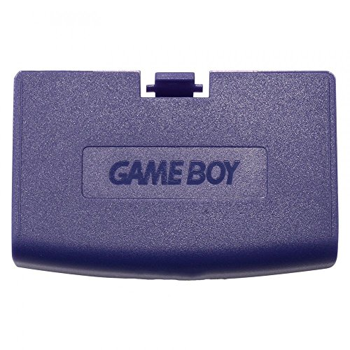 Color Cover Battery Game Boy (Plastic Battery Cover Door Part for Game Boy Advance GBA Purple Color)