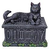 Fortune's Watcher Tarot Box - Black Cat Tarot Box - Nemesis - Wicca Pentagram Storage Box