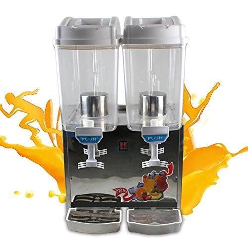 Commercial 17Lx2 Tank Frozen Drink Beverage Juice Dispenser Maker Machine 360W