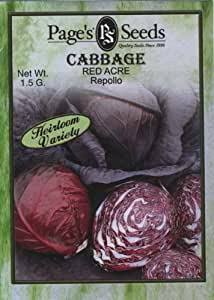 Page's Seed P189 Cabbage Red Acre Seed Packet