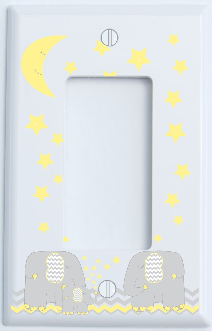 Amazon.com: Yellow Elephant Outlet Switch Plate Covers