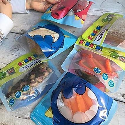 pasas rebanadas de frutas Bolsas de aperitivos Nom Nom Kids reutilizables para ni/ños Se puede guardar bastones de vegetales etc