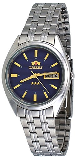 Orient #FEM0401PD Men's Tri Star Navy Blue Dial Standard Self Winding Automatic Watch