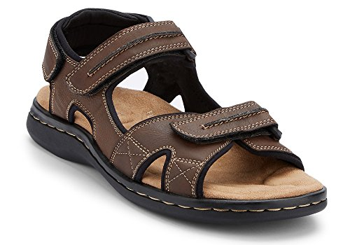 Dockers Men's Newpage Leather Sporty Sandal, Briar, 7 D(M) US