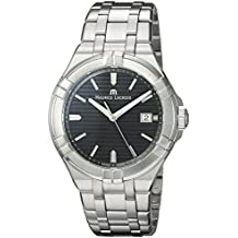 Maurice Lacroix Men's 'Aikon' Swiss Quartz Stainless Steel Casual Watch, Color:Silver-Toned (Model: AI1008-SS002-332-1)
