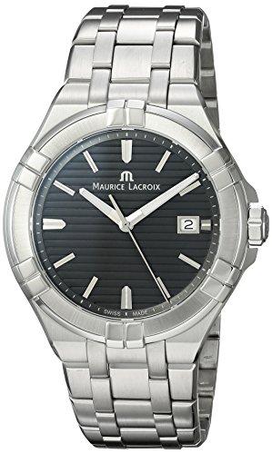 Maurice Lacroix Men's Aikon Swiss-Quartz Watch with Stainless-Steel Strap, Silver (Model: AI1008-SS002-332-1) - Maurice Lacroix Quartz