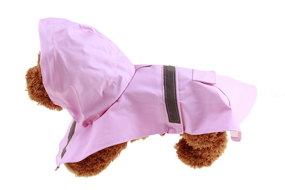 Size S Pink Color Pet Apparel Dog Clothes Dog Raincoat Pet Jacket Rain Pet Waterproof Coat Dog hoodies clothing by Wonder Pet Shop (Image #2)