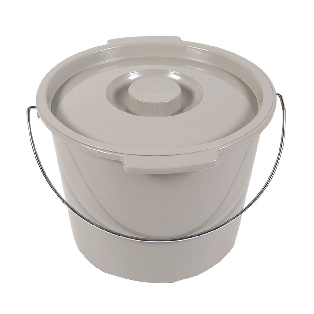 XIHAA Universal Replacement Plastic Commode Pail, With Lid, With Handle 12 Quart Durable And Sturdy, Easy To Clean