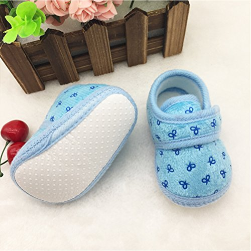 Zhhlinyuan Bebé Girls Boys Warm Cotton Crib Shoes Newborn Soft Sole Toddler shoes Blue