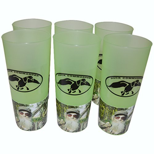 Duck Commander Duck Dynasty Uncle Si Tea Cups Green Drinkware (Pack of 6)