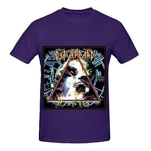 Def Leppard Hysteria Greatest Hits Mens O Neck Cute Shirts ()