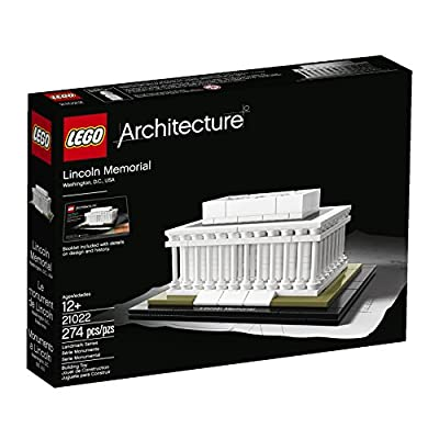 LEGO Architecture 21022 Lincoln Memorial Model Kit: Toys & Games