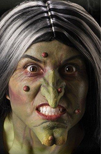Costumes Prosthetics (Foam Latex WITCH Nose & Chin Adult Costume Makeup Prosthetics)