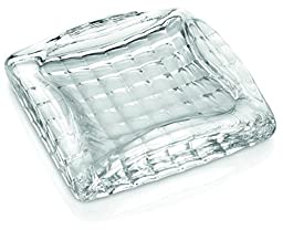 IVV Glassware Ashtray and Paper Weight, 7 by 7-Inch, Clear