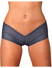 Sassy Assy Blue Denim Basic Booty Short-Stripper Clothing